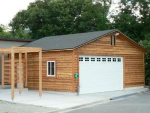 奈良県にセルフビルドのガレージが誕生しました