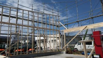 40'x30′ LEAN ROOF  建設風景